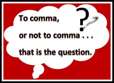 To comma or not to comma?